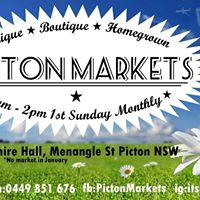 Picton Markets Sunday 4th February 2018 Save the date