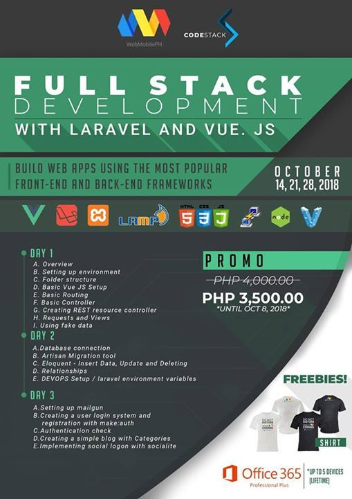 Full Stack Development Using Vue JS and Laravel at Web and