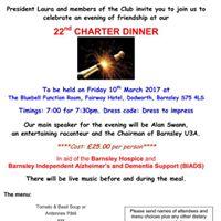 Stainborough Rotary Club 22nd Charter Dinner