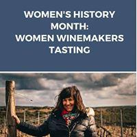 Womens History Month Women Winemakers Tasting