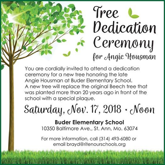 Angie Housman Memorial Re-Dedication Ceremony at Buder