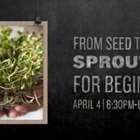 Get Schoold Sprouting for Beginners Workshop