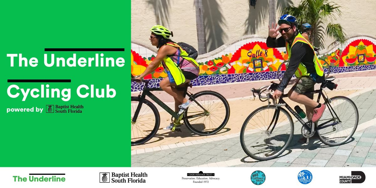 The Underline Cycling Club powered by Baptist Health South Florida FREE October Ride