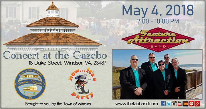 Concert at the Gazebo with FAB   Isle of Wight County