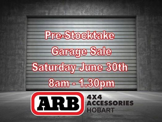 ARB Hobart Pre-Stocktake Garage Sale