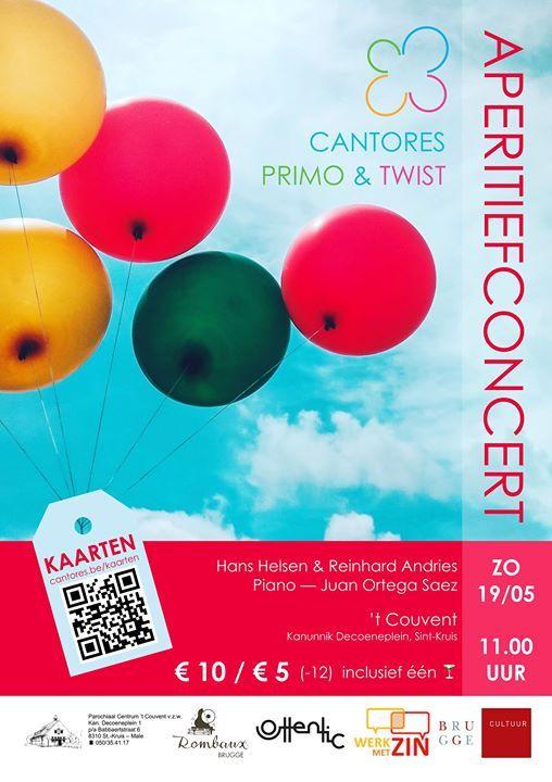 Aperitiefconcert - Cantores Primo en Cantores Twist