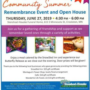 Community Summer Event At Stenshoel Houske Funeral Home Crookston