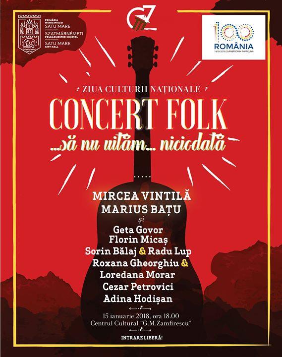 Concert folk s nu uitm niciodat
