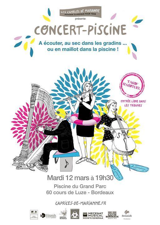 Concert Piscine At Piscine Du Grand Parc60 Cours De Luze 33300
