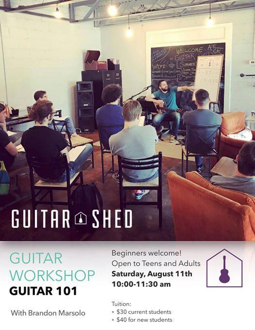 Guitar 101 - Beginning Guitar Workshop at Guitar Shed, Atlanta