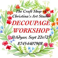 DECOUPAGE WORKSHOP at Adyar