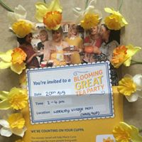 Marie Curie Blooming Great tea party