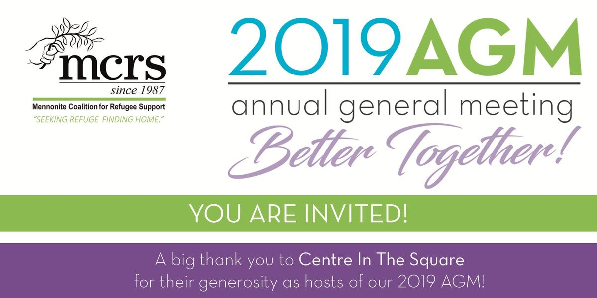 MCRS 2019 AGM Better Together