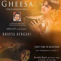 A Solo Act by Artist Bhavya Bengani - Gheesa (Mahadevi Verma)