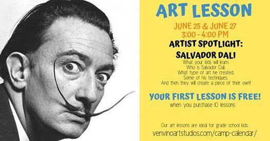 Salvador Dali Art Lesson at Venvino Art Studios, Clackamas