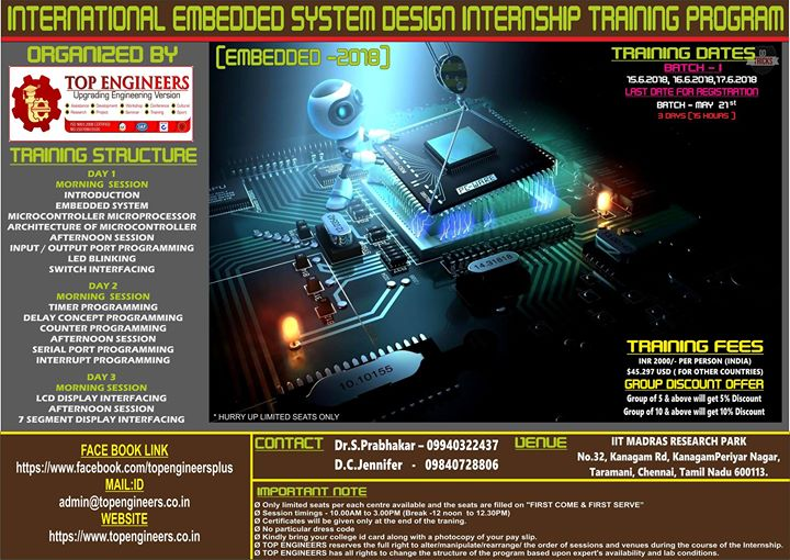 International Embedded System Design Internship Training