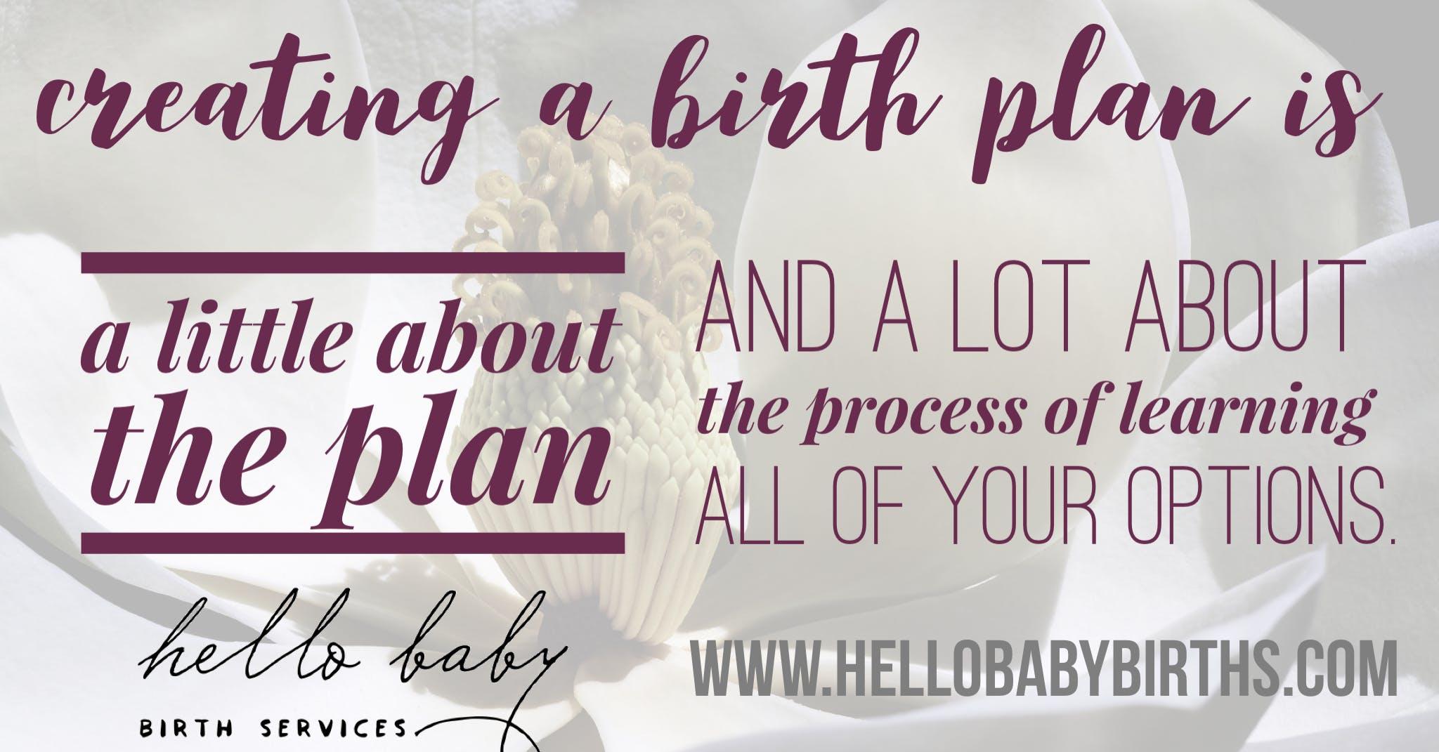 creating your birth plan
