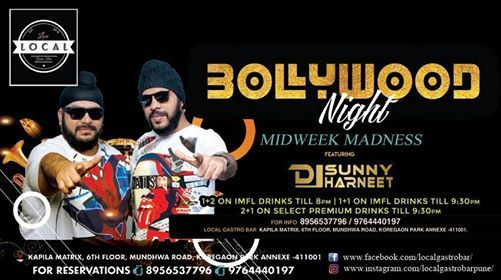 Wednesday Bollywood NIGHT - DJ Sunny & DJ Harneet