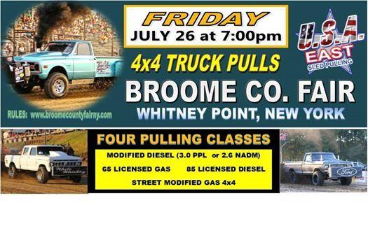 Broome Fair Truck Pulls | Whitney Point
