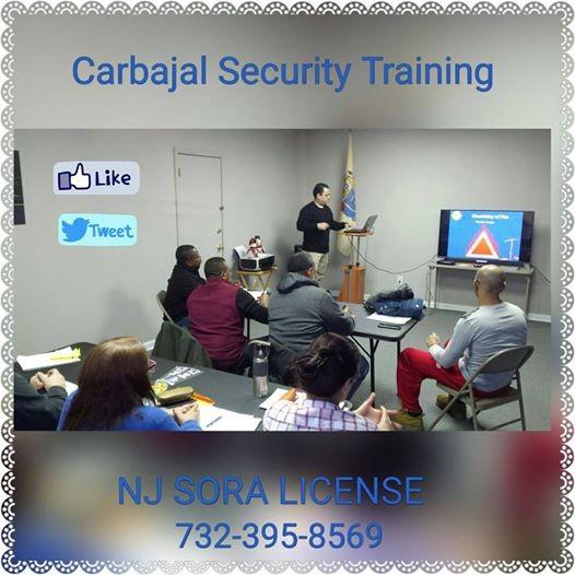 NJ SORA initial class at Carbajal Security Training, Jersey