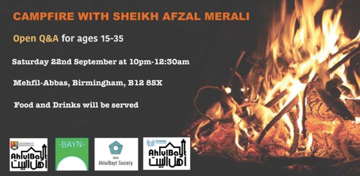 Campfire with Sheikh Afzal Merali