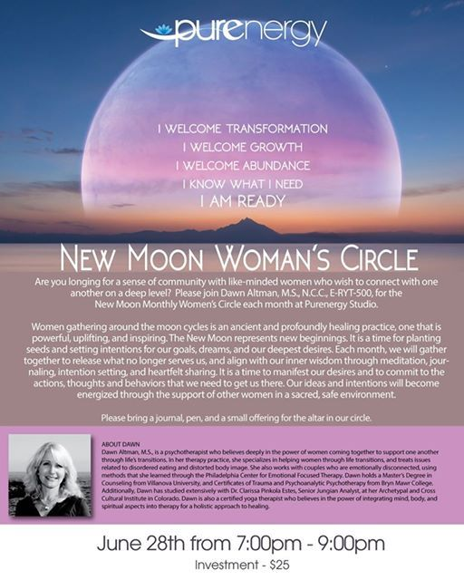 New Moon Monthly Womens Circle