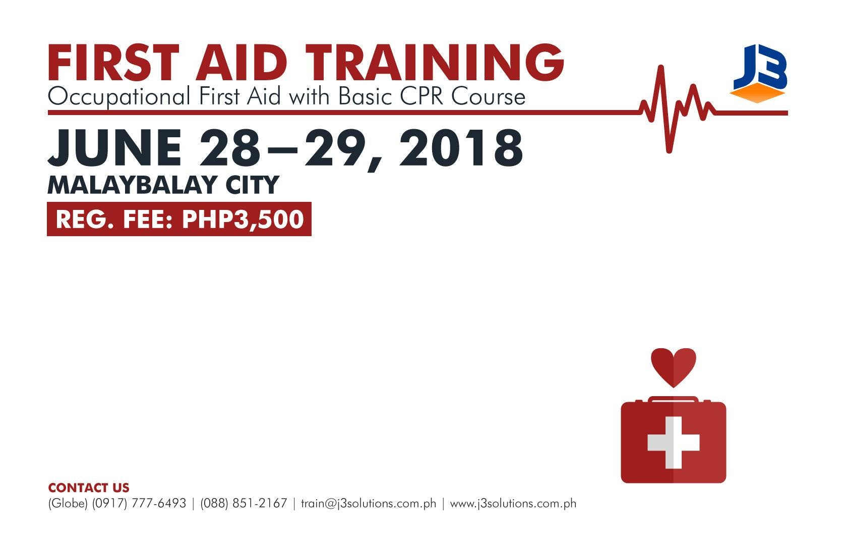 Occupational First Aid With Basic Cpr Course First Aid Training At