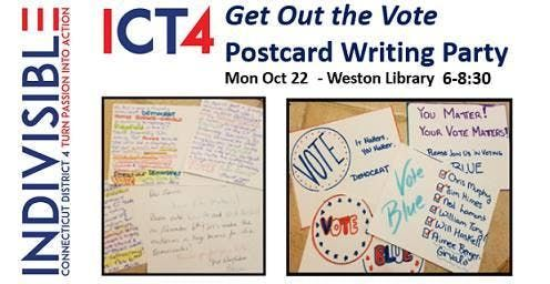 ICT4 Get Out the Vote Postcard Writing Party