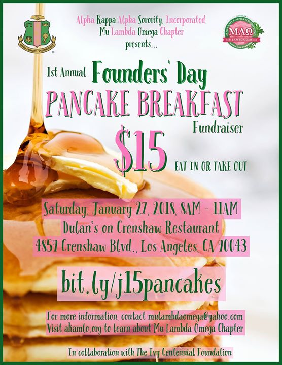 MLO 1st Annual Founders Day Pancake Breakfast Fundraiser