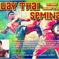 ChaingMai Muay Thai Seminar with Kru Oh