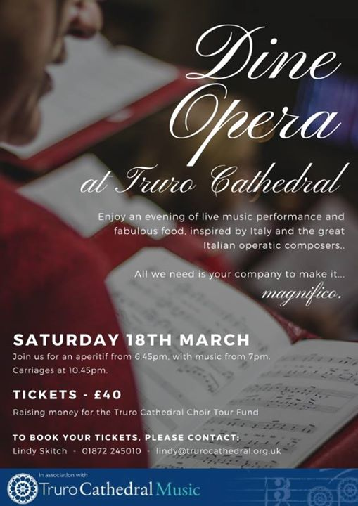 Dine Opera at Truro Cathedral