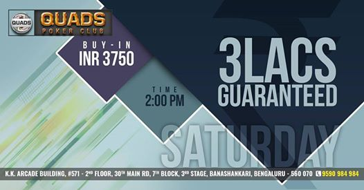 Monthly 3 Lacs GTD RE Poker Tournament