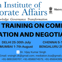 IICA Training on Commercial Mediation and Negotiation