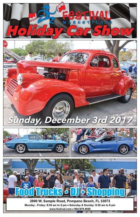 Holiday Car Show At Festival Marketplace Pompano Beach - Pompano car show