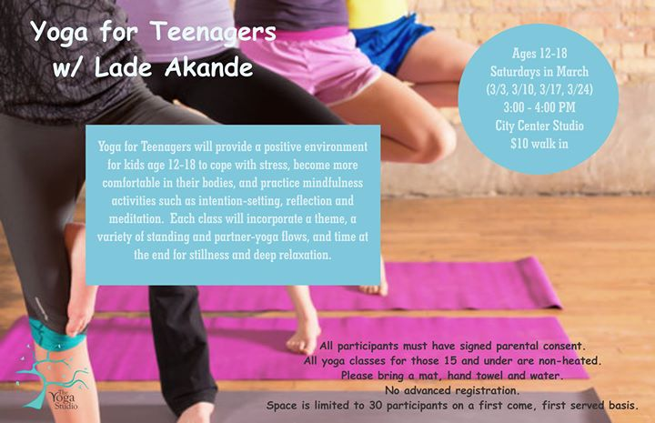 Perfekt Yoga For Teenagers With Lade Akande   City Center At The Yoga Studio,  Indianapolis
