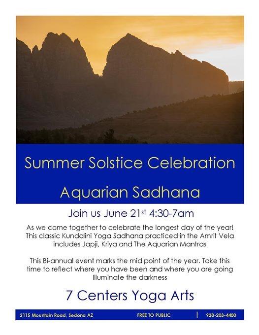 Summer Solstice Celebration Aquarian Sadhana
