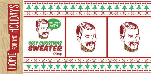 Ugly Christmas Sweater Party Dj Rosspissantmodest At Rusty Nail