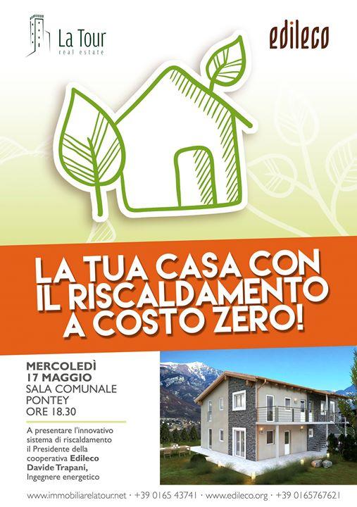 Conferenza La Tua Casa Con Il Riscaldamento A Costo Zero At