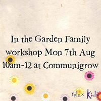 Relax Kids Parent &amp Child In The Garden Summer workshop