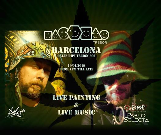 Live Painting & Live Music at Tresor Barcelona