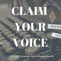 CLAIM YOUR VOICE