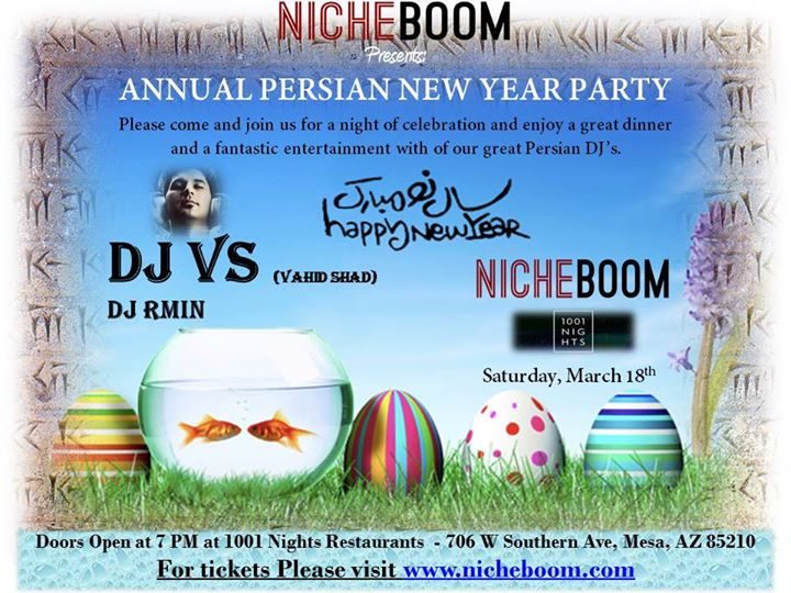Persian new year party 2017 at 1001 nights hookah for 1001 nights persian cuisine