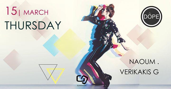 DOPE  Thursday 15 March  Naoum & VerikakisG