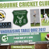 Ashbourne Cricket Club Table Quiz
