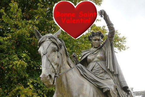 La Saint-Valentin at the White Horse Banbury Cross