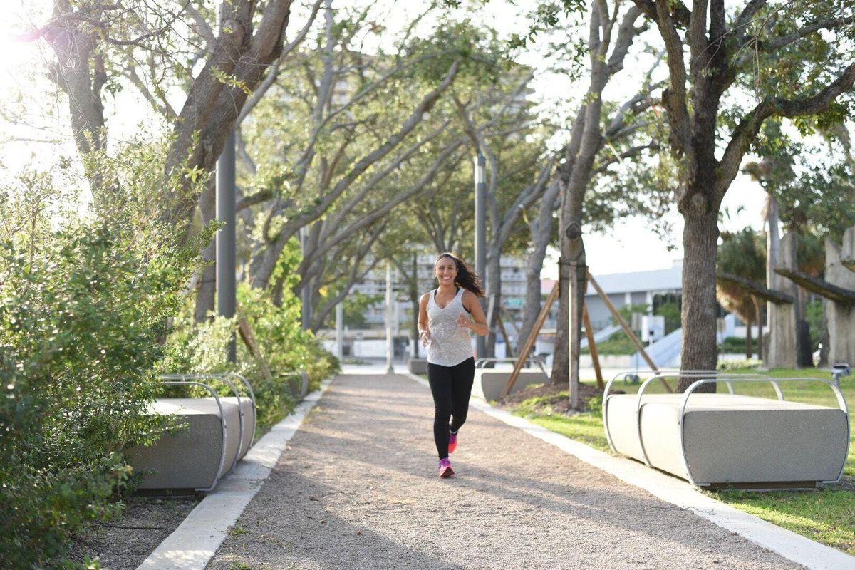 5K Run  Yoga Stretch
