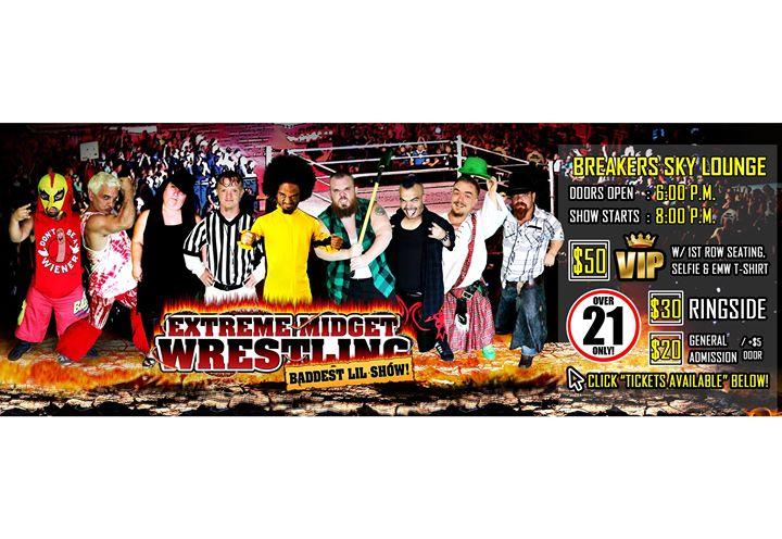 Extreme Midget Wrestling in HerndonVA at Breakers Sky Lounge