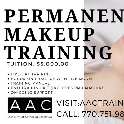 PERMANENT MAKEUP CERTIFICATION TRAINING at Academy of Advanced ...