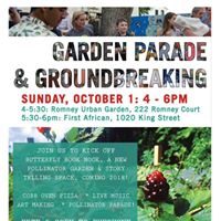 Pollinator Parade &amp Garden Groundbreaking