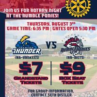 Rotary Night At The Rumble Ponies
